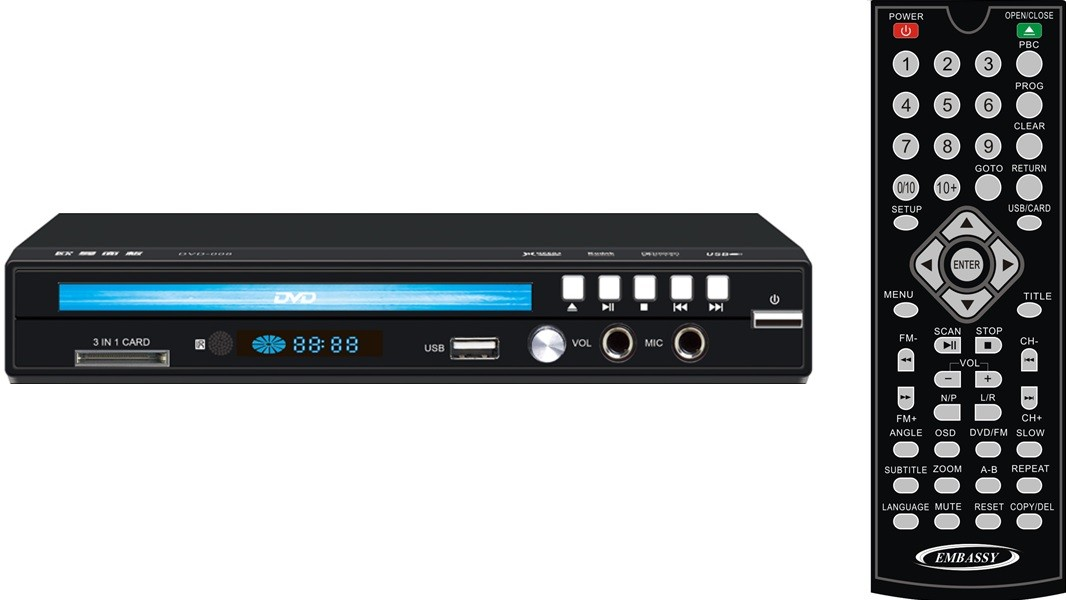 HC783DVD012 - HD DVD PLAYER WITH USB/SD AND FM